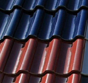 coloured roof tiles